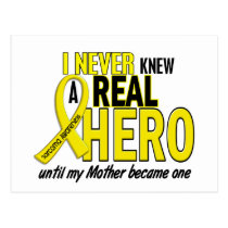 Sarcoma NEVER KNEW A HERO 2 Mother Postcard