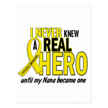 Sarcoma NEVER KNEW A HERO 2 Nana Postcard
