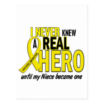 Sarcoma NEVER KNEW A HERO 2 NIECE Postcard