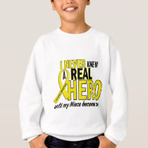 Sarcoma NEVER KNEW A HERO 2 NIECE Sweatshirt