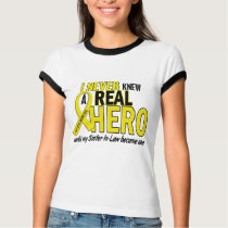 Sarcoma NEVER KNEW A HERO 2 Sister-In-Law T-Shirt