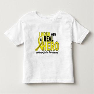 Sarcoma NEVER KNEW A HERO 2 Sister Shirt
