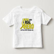 Sarcoma NEVER KNEW A HERO 2 Sister Toddler T-shirt