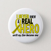 Sarcoma NEVER KNEW A HERO 2 Son Button