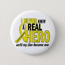 Sarcoma NEVER KNEW A HERO 2 Son Button