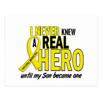 Sarcoma NEVER KNEW A HERO 2 Son Postcard