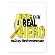 Sarcoma NEVER KNEW A HERO 2 Uncle Postcard