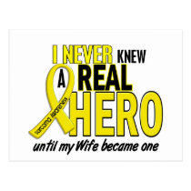 Sarcoma NEVER KNEW A HERO 2 Wife Postcard