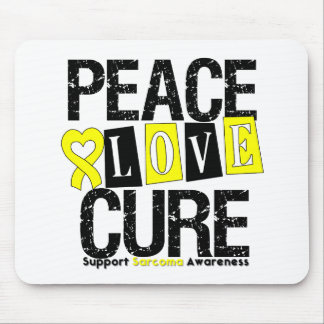 Sarcoma Peace Love Cure Mouse Mat