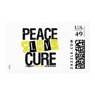Sarcoma Peace Love Cure Postage Stamp
