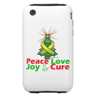 Sarcoma Peace Love Joy Cure Tough iPhone 3 Cases