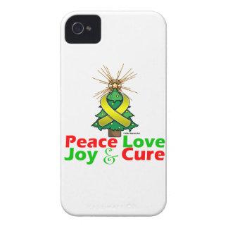 Sarcoma Peace Love Joy Cure iPhone 4 Covers