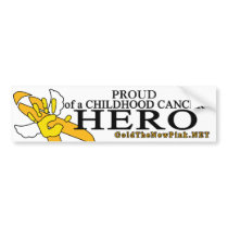 "Sarcoma - ""Proud"" Angel Bumper Sticker"
