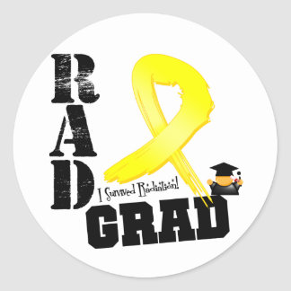 Sarcoma Radiation Therapy RAD Grad Classic Round Sticker