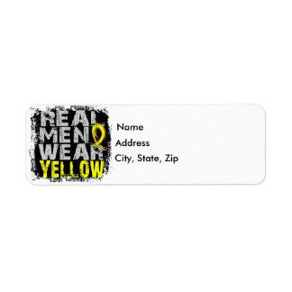 Sarcoma Real Men Wear Yellow Label