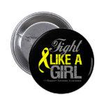 Sarcoma Ribbon - Fight Like a Girl Pins