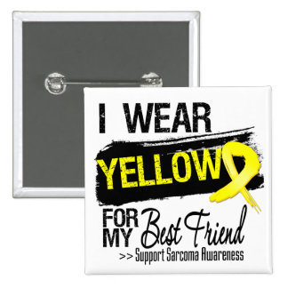 Sarcoma Ribbon For My Best Friend 2 Inch Square Button