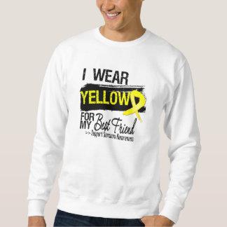 Sarcoma Ribbon For My Best Friend Pullover Sweatshirt