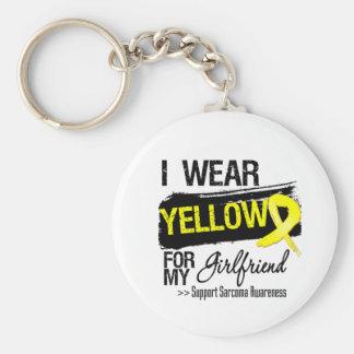 Sarcoma Ribbon For My Girlfriend Keychain