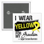 Sarcoma Ribbon For My Grandson 2 Inch Square Button