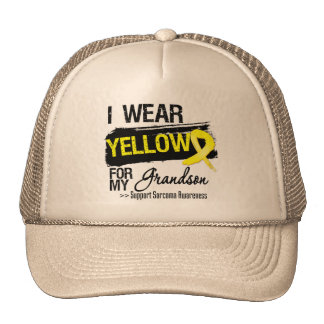 Sarcoma Ribbon For My Grandson Trucker Hat