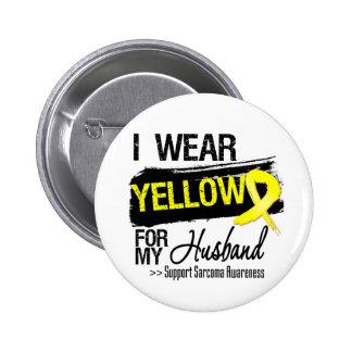 Sarcoma Ribbon For My Husband 2 Inch Round Button