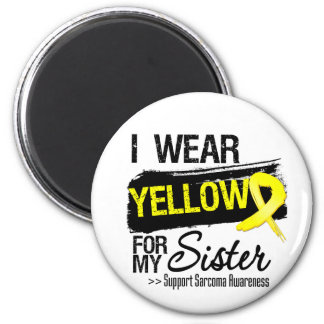 Sarcoma Ribbon For My Sister 2 Inch Round Magnet
