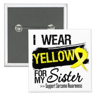 Sarcoma Ribbon For My Sister 2 Inch Square Button