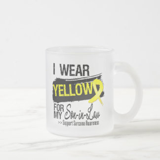 Sarcoma Ribbon For My Son-in-Law 10 Oz Frosted Glass Coffee Mug
