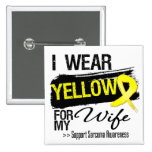 Sarcoma Ribbon For My Wife 2 Inch Square Button
