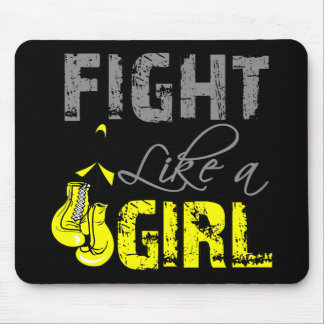 Sarcoma Ribbon Gloves Fight Like a Girl Mouse Pads