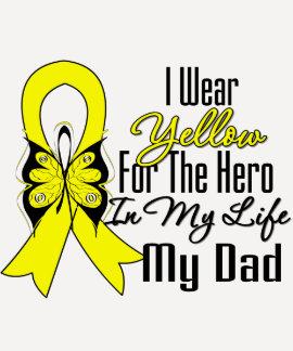 Sarcoma Ribbon My Hero My Dad Shirt