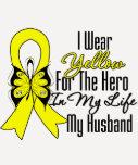 Sarcoma Ribbon My Hero My Husband T-Shirt