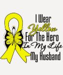 Sarcoma Ribbon My Hero My Husband Tee Shirts