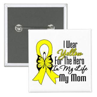 Sarcoma Ribbon My Hero My Mom Pin