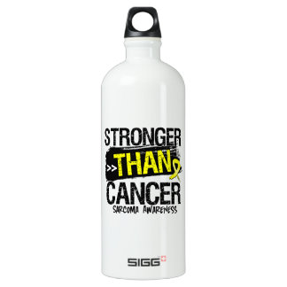 Sarcoma - Stronger Than Cancer Aluminum Water Bottle