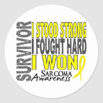 Sarcoma Survivor 4 Classic Round Sticker