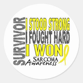 Sarcoma Survivor 4 Classic Round Sticker