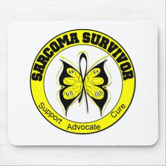 Sarcoma Survivor Butterfly Mouse Mats