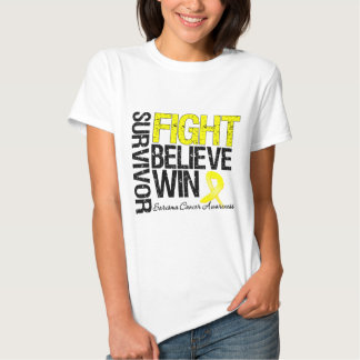 Sarcoma Survivor Fight Believe Win Motto Tee Shirt