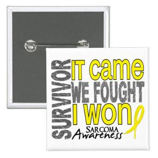 Sarcoma Survivor It Came We Fought I Won 2 Inch Square Button