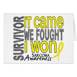 Sarcoma Survivor It Came We Fought I Won Cards