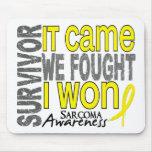 Sarcoma Survivor It Came We Fought I Won Mouse Mat