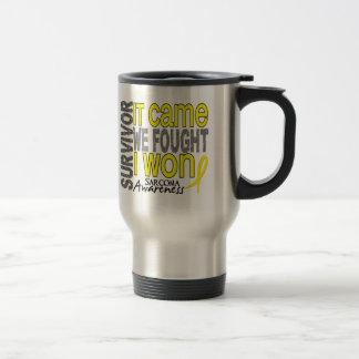Sarcoma Survivor It Came We Fought I Won 15 Oz Stainless Steel Travel Mug