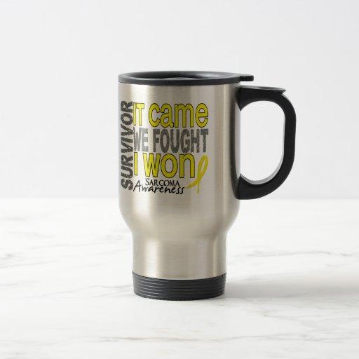 Sarcoma Survivor It Came We Fought I Won Coffee Mug