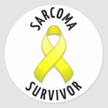 Sarcoma Survivor Round Sticker