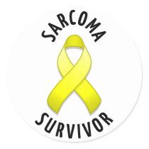 Sarcoma Survivor Round Sticker