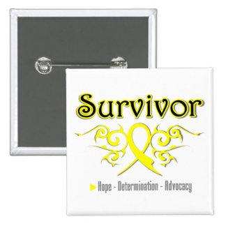 Sarcoma Survivor Tribal Ribbon Pins