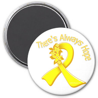 Sarcoma There's Always Hope Floral 3 Inch Round Magnet