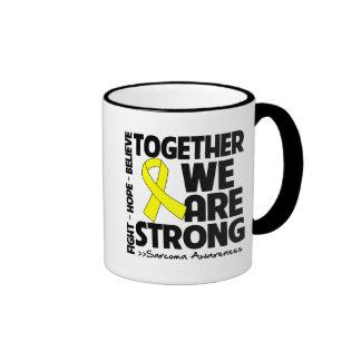 Sarcoma Together We Are Strong Ringer Coffee Mug